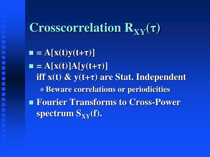 Crosscorrelation R