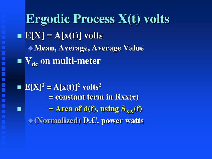 Ergodic Process X(t) volts
