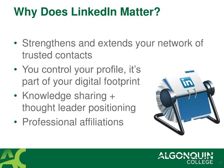 Why Does LinkedIn Matter?