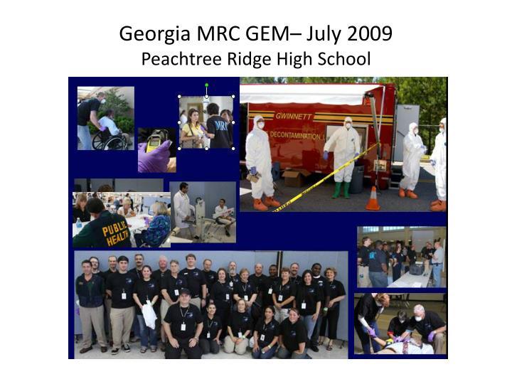 Georgia MRC GEM– July 2009