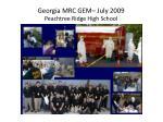 georgia mrc gem july 2009 peachtree ridge high school