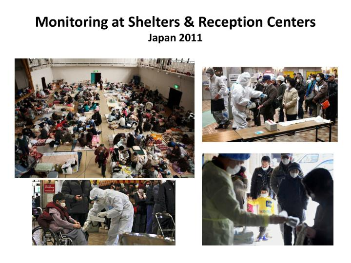 Monitoring at Shelters & Reception Centers