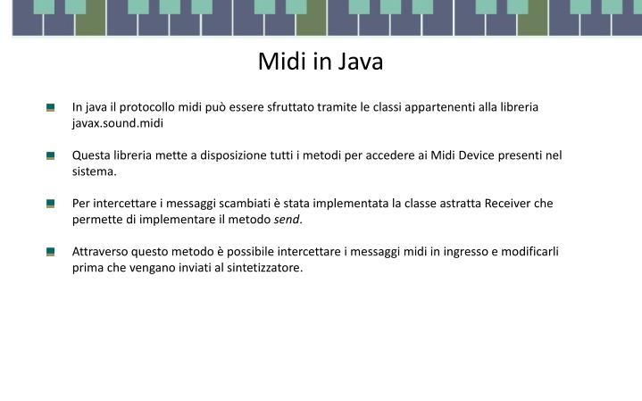 Midi in Java