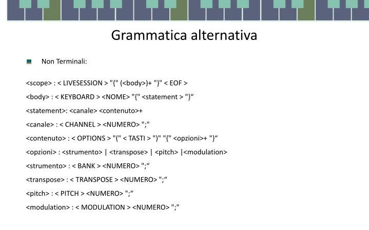 Grammatica alternativa