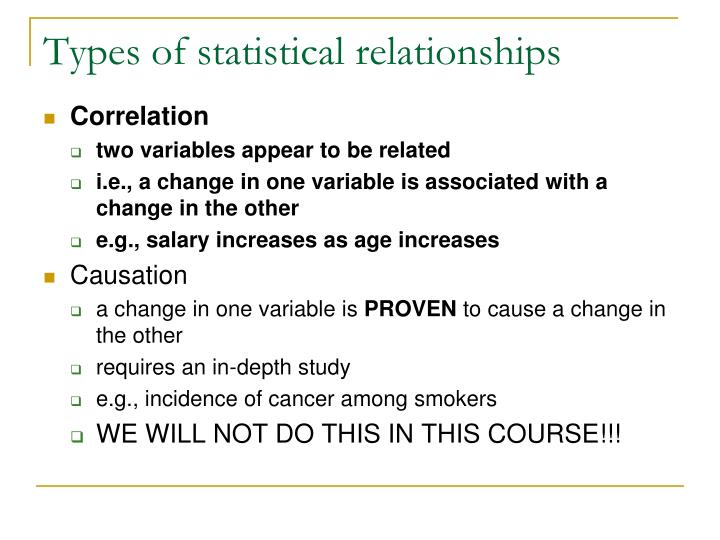 Types of statistical relationships