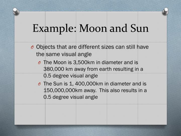 Example: Moon and Sun