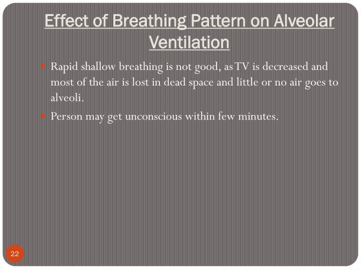 Effect of Breathing Pattern on Alveolar Ventilation