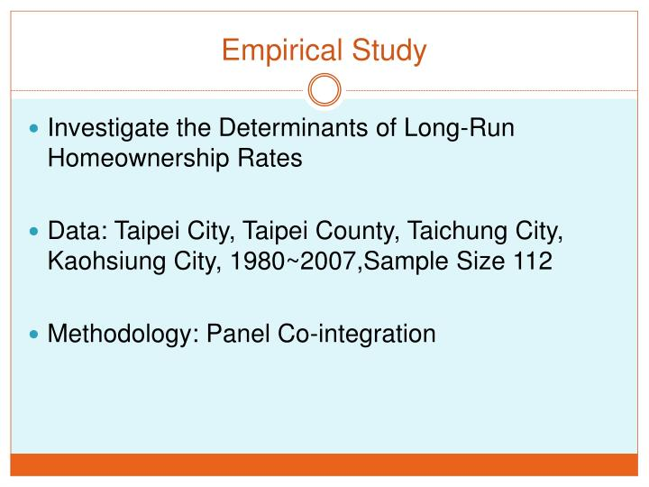 Empirical Study