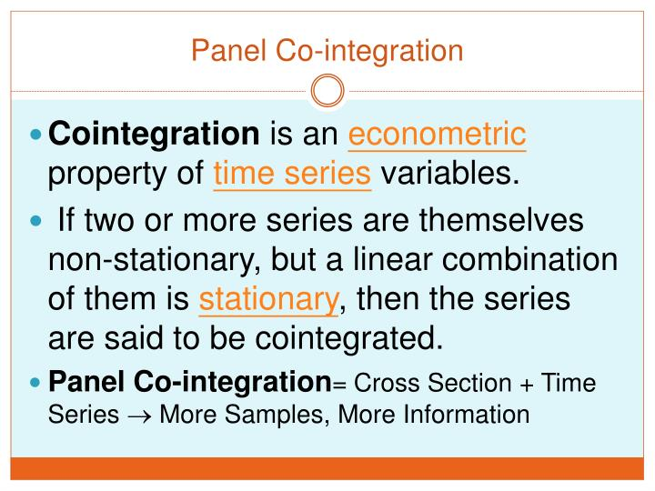 Panel Co-integration