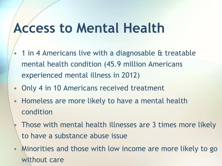 Access to Mental Health