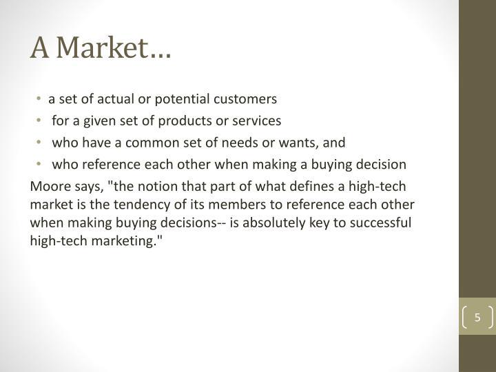 A Market…