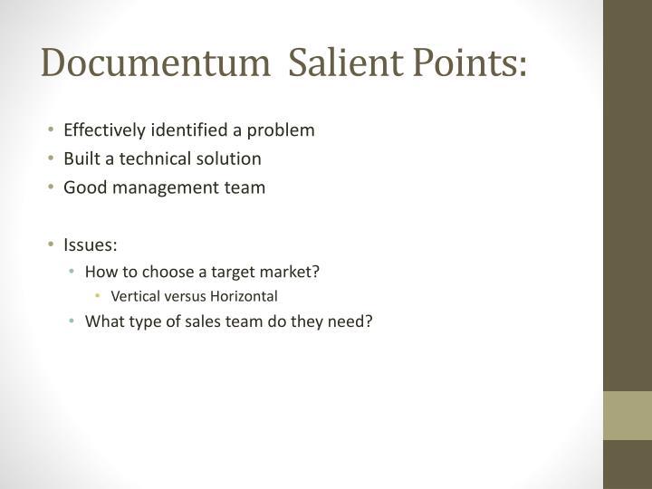 Documentum  Salient Points:
