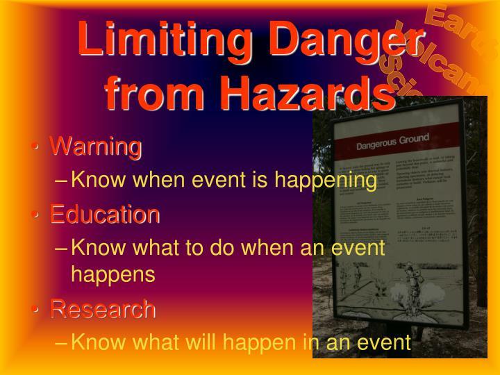 Limiting Danger from Hazards