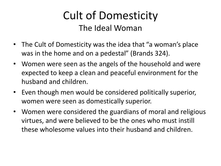 Cult of domesticity the ideal woman