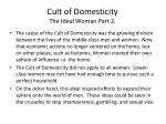 cult of domesticity the ideal woman part 2