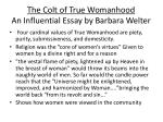 the colt of true womanhood an influential essay by barbara welter