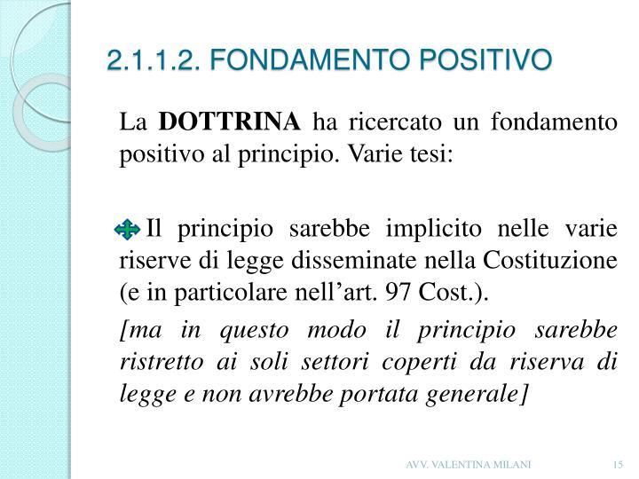 2.1.1.2. FONDAMENTO POSITIVO