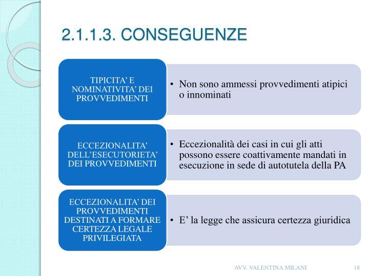 2.1.1.3. CONSEGUENZE