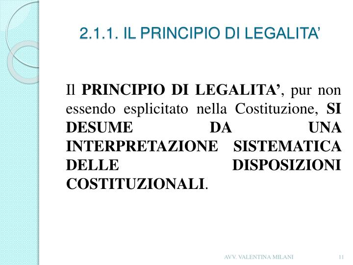 2.1.1. IL PRINCIPIO