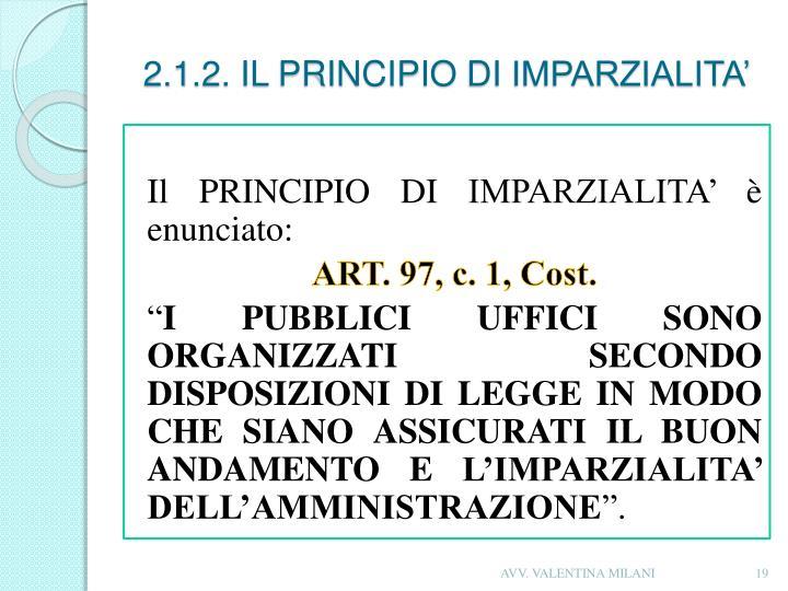 2.1.2. IL PRINCIPIO