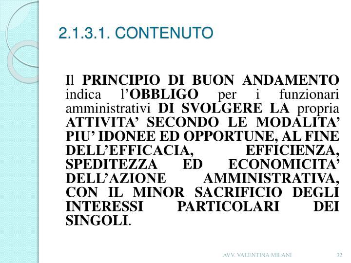 2.1.3.1. CONTENUTO