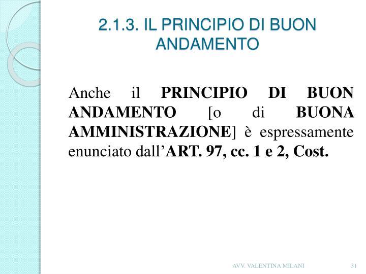 2.1.3. IL PRINCIPIO