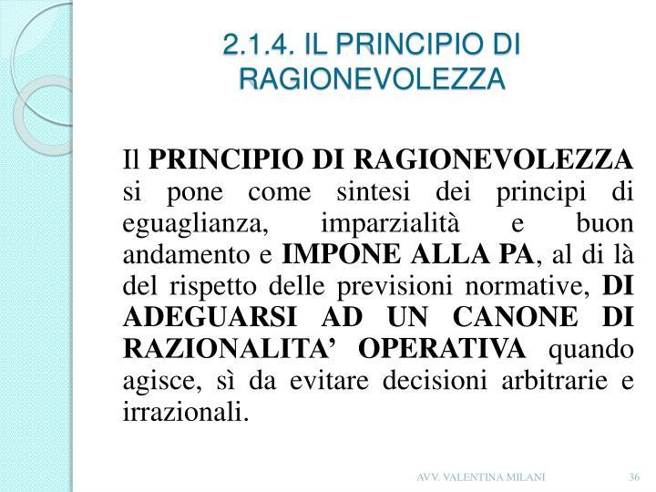 2.1.4. IL PRINCIPIO