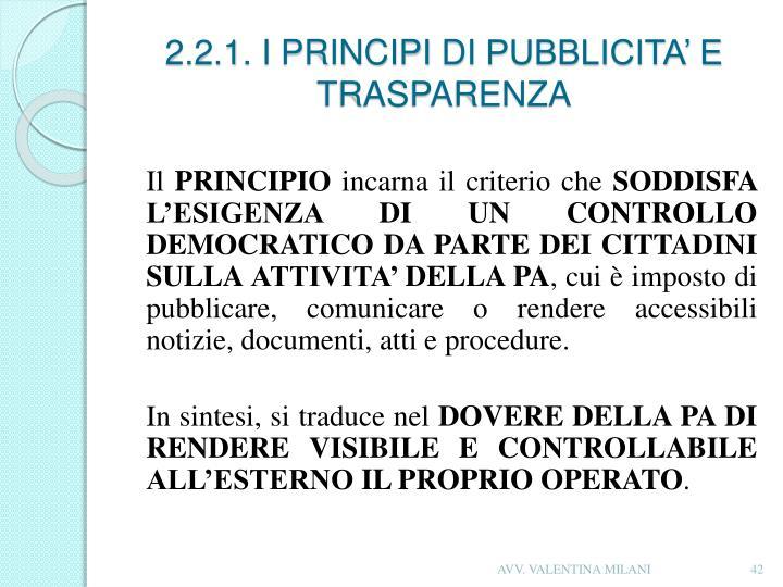 2.2.1. I PRINCIPI