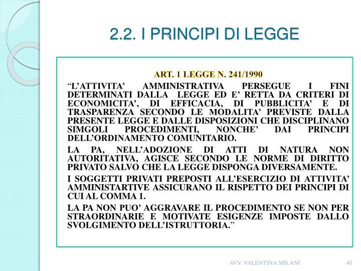 2.2. I PRINCIPI