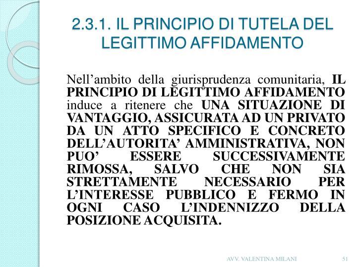 2.3.1. IL PRINCIPIO