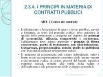 2 3 4 i principi in materia di contratti pubblici