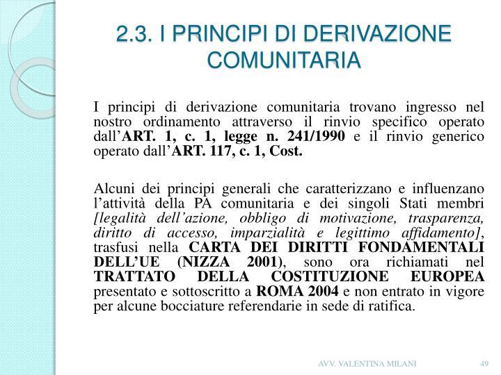 2.3. I PRINCIPI