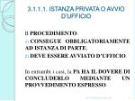 3 1 1 1 istanza privata o avvio d ufficio