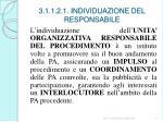 3 1 1 2 1 individuazione del responsabile