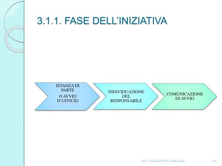 3.1.1. FASE DELL'INIZIATIVA