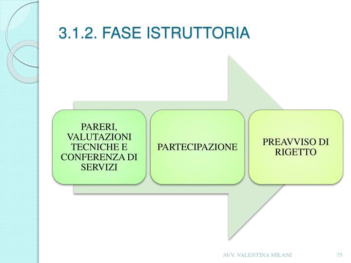 3.1.2. FASE ISTRUTTORIA