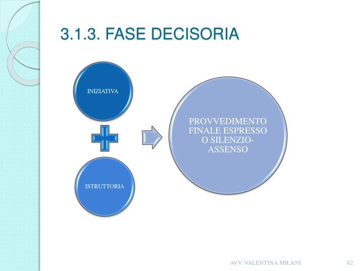 3.1.3. FASE DECISORIA