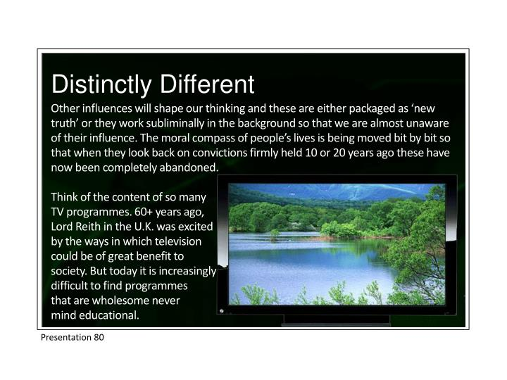 Distinctly Different