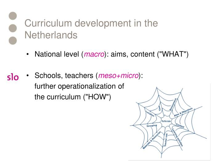 Curriculum development in the netherlands
