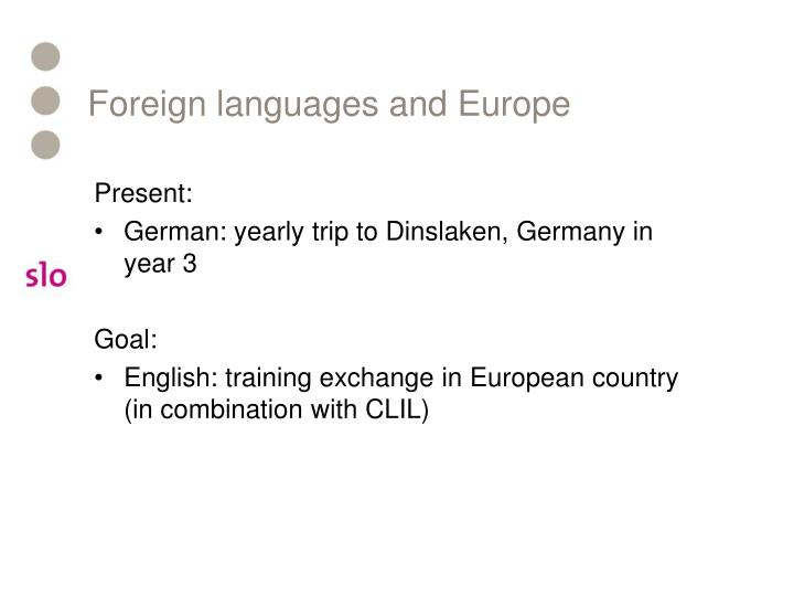 Foreign languages and Europe
