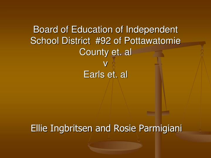 Board of education of independent school district 92 of pottawatomie county et al v earls et al