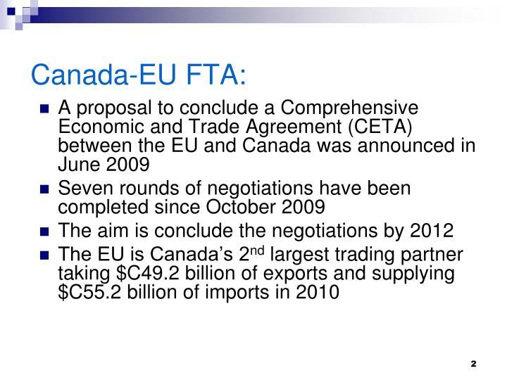 Canada-EU FTA: