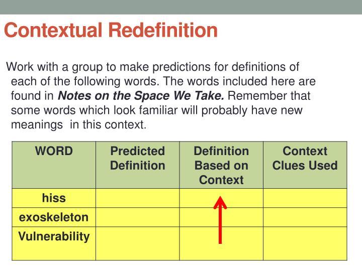 Contextual Redefinition