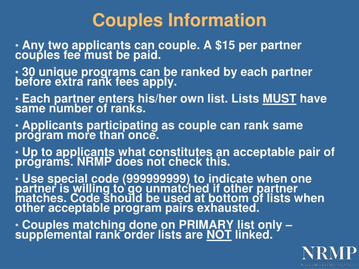 Couples Information