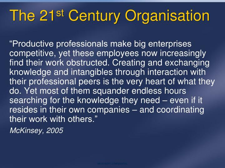 The 21 st century organisation