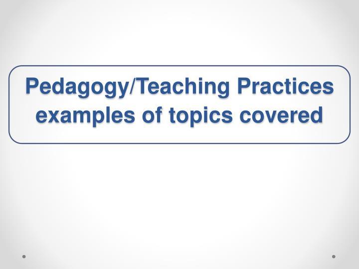 Pedagogy/Teaching Practices