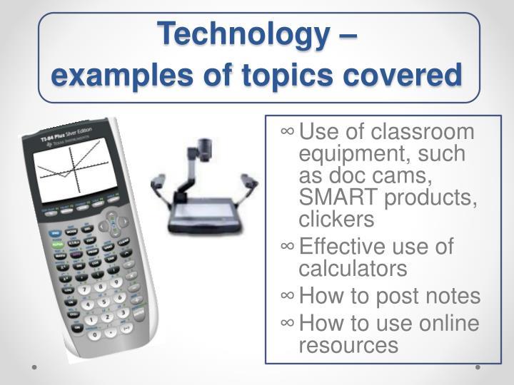 Technology –