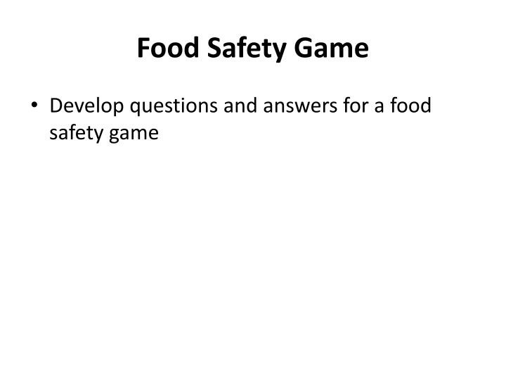 Food Safety Game