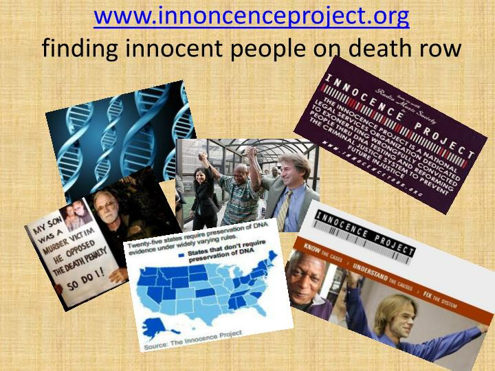 www.innoncenceproject.org