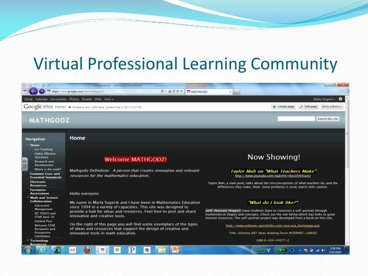 Virtual Professional Learning Community
